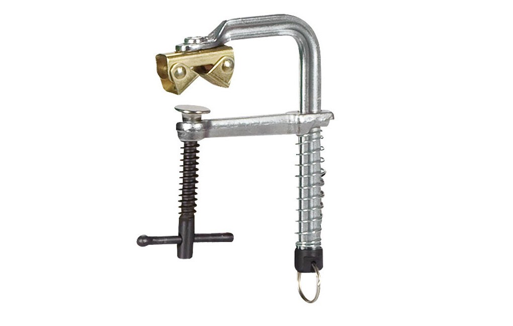 MSZ 140- Magnetyczny ścisk śrubowy z szybkozłączką sprężynową i magnetycznym mocowaniem typu V-clamp