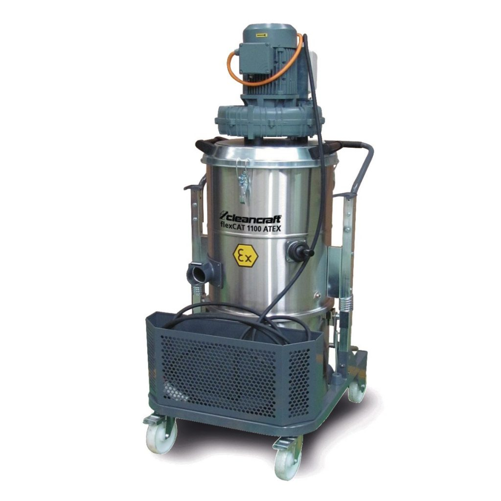 flexCAT 1100 ATEX – Specjalny wysokowydajny odkurzacz przemysłowy do pyłów, cieczy i ciał stałych.